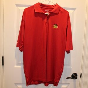 Mens Antigua Desert Dry Blackhawks Shirt M